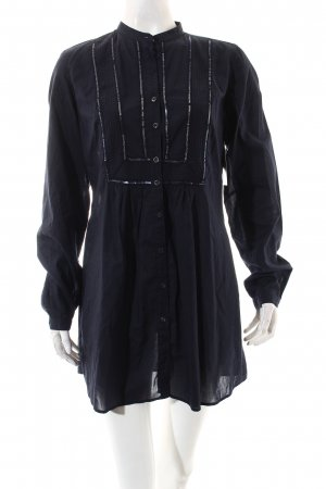 0039 Italy Tunic Blouse dark blue casual look