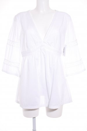 0039 Italy Tunic Blouse white Boho look