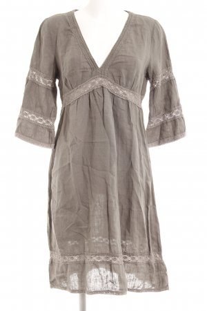 0039 Italy Tunic Dress grey floral pattern beach look
