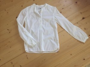 0039 Italy Stand-Up Collar Blouse white
