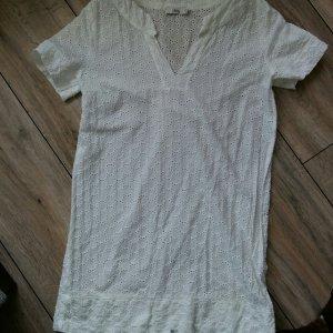 0039 Italy weißes Kleid Lochmuster