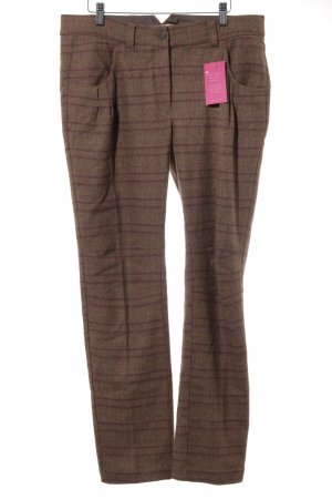 0039 Italy Woolen Trousers check pattern casual look