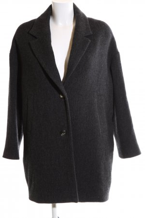 0039 Italy Manteau en laine noir moucheté style décontracté