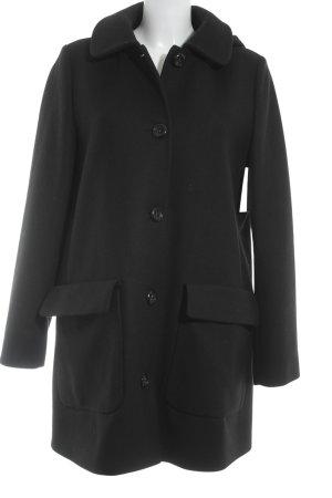 0039 Italy Abrigo de lana negro elegante