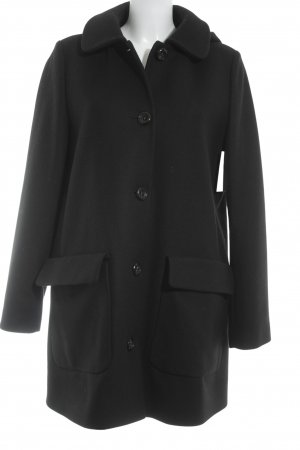 0039 Italy Wollmantel schwarz Elegant