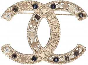 Chanel Broche color oro metal