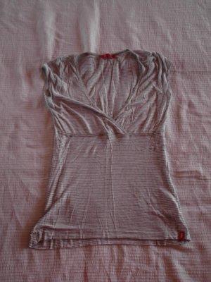 T-Shirt, Größe: XXS, grau-weiß gestreift, Marke: edc/Esprit