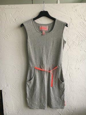 Superdry Abito elasticizzato grigio chiaro-fucsia neon Tessuto misto