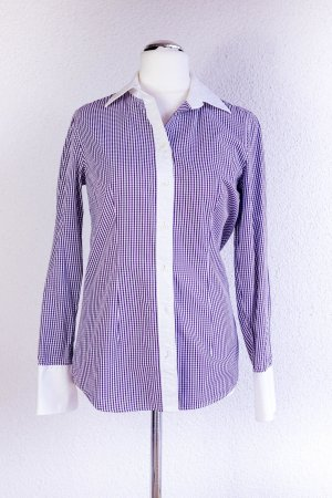 0039 Italy Long Sleeve Blouse lilac-white cotton