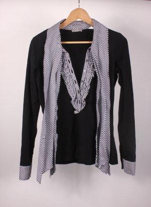van Laack Cols de blouses noir-blanc coton