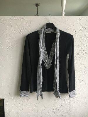 van Laack Colletto camicia nero-bianco Cotone