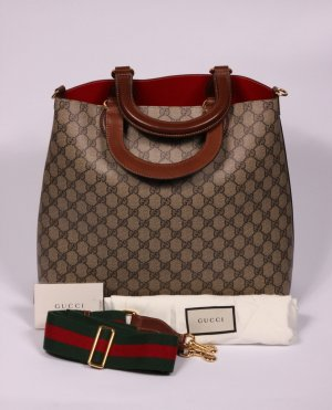 063 - Original Gucci Hobo Shopper in Braun mit Trageriemen