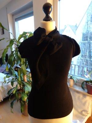 schwarzes T-Shirt mit Schleife von Mango