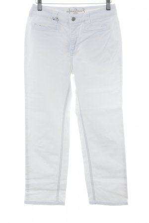 1.2.3 Paris 3/4 Length Jeans white embroidered lettering casual look