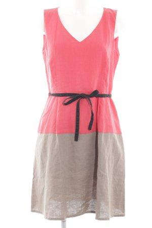 1.2.3 Paris A Line Dress pink-light grey color gradient elegant