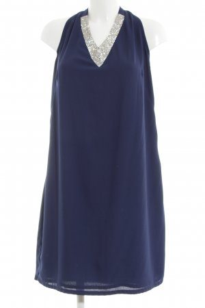 1.2.3 Paris Abendkleid blau-silberfarben Glanz-Optik
