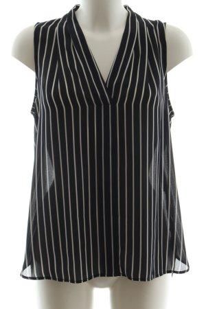 1.2.3 Paris ärmellose Bluse schwarz-weiß Streifenmuster Business-Look