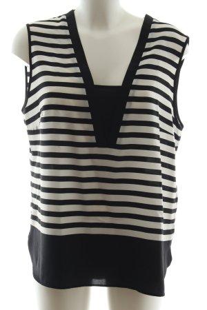 1.2.3 Paris ärmellose Bluse schwarz-weiß Streifenmuster Casual-Look
