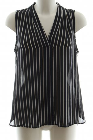 1.2.3 Paris Sleeveless Blouse white-dark blue striped pattern casual look