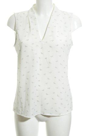 1.2.3 Paris ärmellose Bluse weiß-silberfarben Glitzer-Optik
