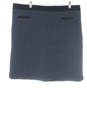 1.2.3 Paris Bleistiftrock dunkelblau-schwarz Punktemuster Business-Look