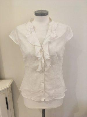 1.2.3 Paris Short Sleeved Blouse white-natural white linen
