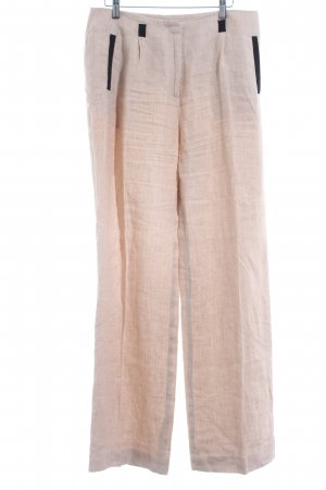 1.2.3 Paris Bundfaltenhose beige-schwarz Beach-Look