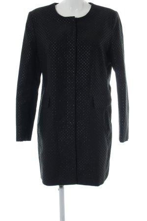 1.2.3 Paris Geklede jas zwart-zilver volledige print casual uitstraling