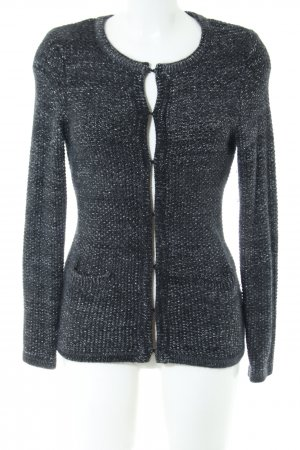 1.2.3 Paris Coarse Knitted Jacket black flecked casual look