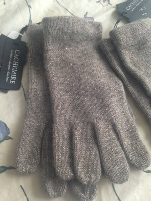 1.2.3 Paris Knitted Gloves beige-taupe