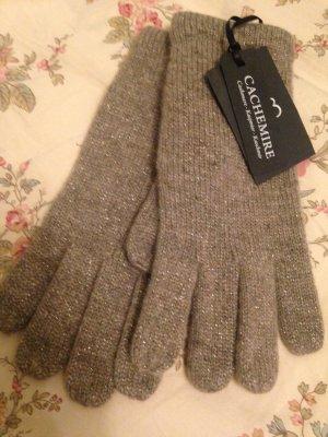 1.2.3 Paris Gebreide handschoenen taupe Kasjmier