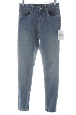 1.2.3 Paris High Waist Jeans graublau schlichter Stil