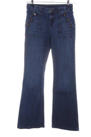 1.2.3 Paris Jeansschlaghose blau Casual-Look
