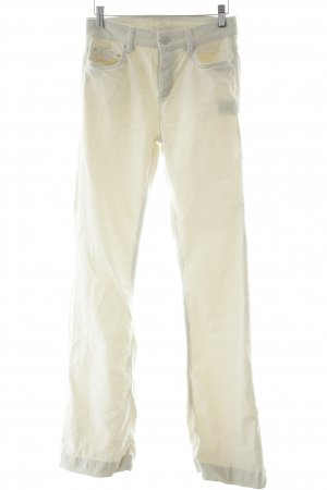 1.2.3 Paris Jeansschlaghose creme schlichter Stil
