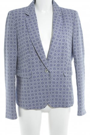 1.2.3 Paris Kurz-Blazer weiß-blau Ornamentenmuster Business-Look