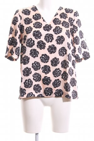 1.2.3 Paris Short Sleeved Blouse pink-black allover print casual look