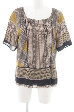 1.2.3 Paris Kurzarm-Bluse grafisches Muster Elegant