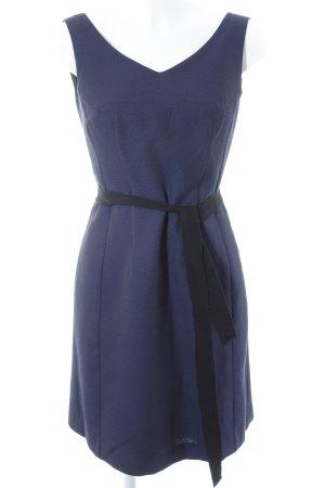 1.2.3 Paris Kurzarmkleid dunkelblau-schwarz Punktemuster Elegant