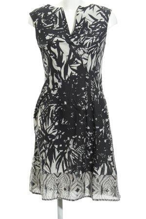 1.2.3 Paris Kurzarmkleid schwarz-grau florales Muster Casual-Look