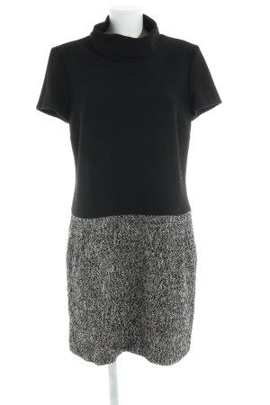 1.2.3 Paris Shortsleeve Dress black-white flecked business style