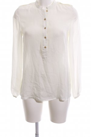 1.2.3 Paris Long Sleeve Blouse natural white business style