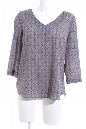 1.2.3 Paris Long Sleeve Blouse light grey-blue allover print casual look