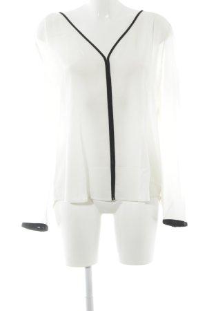 1.2.3 Paris Langarm-Bluse creme-schwarz Elegant