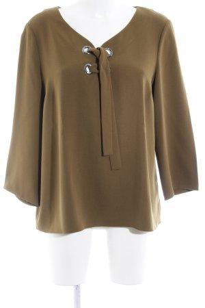 1.2.3 Paris Langarm-Bluse olivgrün Casual-Look