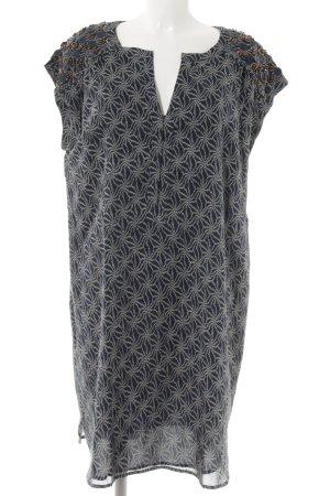 1.2.3 Paris Midi Dress petrol-oatmeal graphic pattern casual look