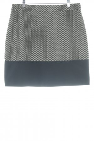 1.2.3 Paris Midi Skirt black-cream abstract pattern business style