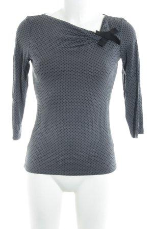 1.2.3 Paris Crewneck Sweater anthracite-black spot pattern simple style