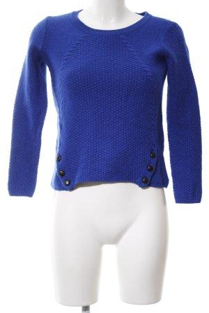 1.2.3 Paris Rundhalspullover blau Casual-Look