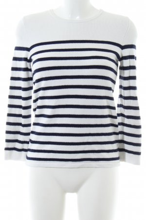 1.2.3 Paris Crewneck Sweater white-black striped pattern casual look