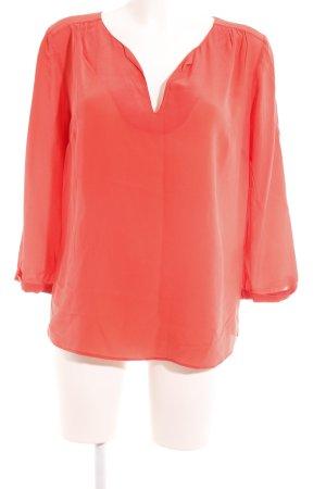 1.2.3 Paris Zijden blouse lichtrood casual uitstraling